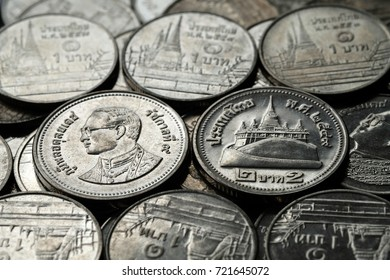 Nickel coin and old coin stacking use for financial concept background