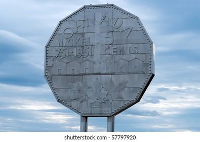 Nickel monument in Sudbury Ontario Canada