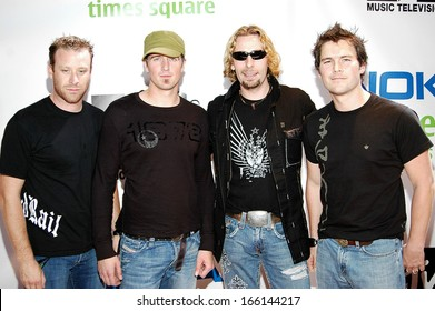 Nickelback, Mike Kroeger, Daniel Adair, Chad Kroeger, Ryan Peake on location for MTV and NOKIA UNWIRED Live Concert Event, Nokia Theatre Times Square, New York, September 27, 2005