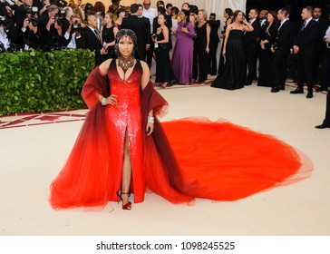 Nicki Minaj attends the 2018 Metropolitan Museum of Art Costume Institute Benefit Gala on May 7, 2018 at the Metropolitan Museum of Art in New York, New York, USA
