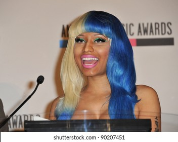 Nicki Minaj at the nominations announcement for the 2011 American Music Awards at the JW Marriott Los Angeles at LA Live. October 11, 2011  Los Angeles, CA Picture: Paul Smith / Featureflash