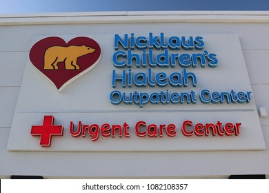 Nicklaus Children's Hialeah Urgent Care Center in Hialeah, Florida, USA on April 12, 2018