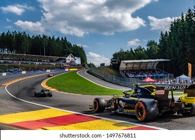 Nico Hülkenberg (Germany) in the Renault F1 Team R.S. 19 2019 F1 car during the 2019 Formula 1 Johnnie Walker Belgian Grand Prix (29/08/2019 - 01/01/2019) at Circuit de Spa-Francorchamps Belgium