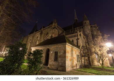 nicolai church lippstadt germany in the evening
