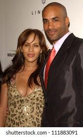 "Nicole Ari Parker and Boris Kodjoe at Ebony's Pre-Oscar Celebration ""Take 3"". Jim Henson Studios, Hollywood, CA. 02-22-07"