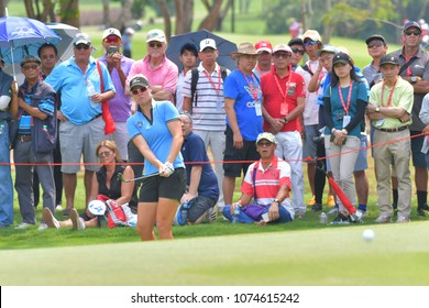 Nicole Broch Larsen of Denmark in Honda LPGA Thailand 2018 at Siam Country Club, Old Course on February 25, 2018 in Pattaya Chonburi, Thailand.