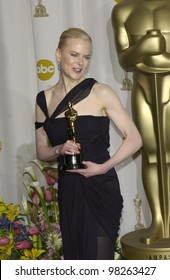 NICOLE KIDMAN at the 75th Academy Awards at the Kodak Theatre, Hollywood, California. March 23, 2003