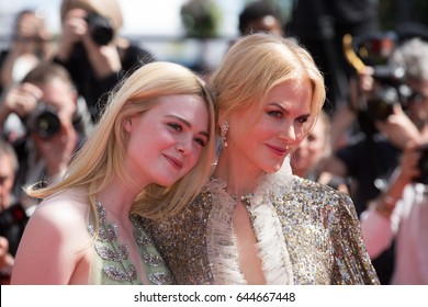 Nicole Kidman, Elle Fanning at the How To Talk To Girls At Parties premiere for at the 70th Festival de Cannes. May 21, 2017  Cannes, France