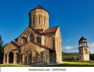 Nicortsminda ancient temple church complex landmark in Racha region of Georgia