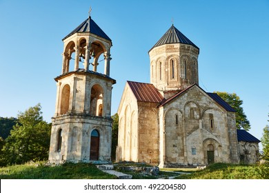 Nicortsminda orthodox Christianity church landmark in Racha region of Georgia