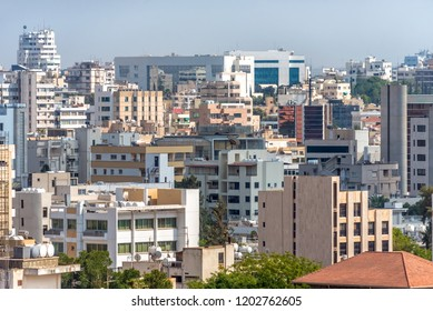 Nicosia citysacpe. Southern part of the capital. Cyprus