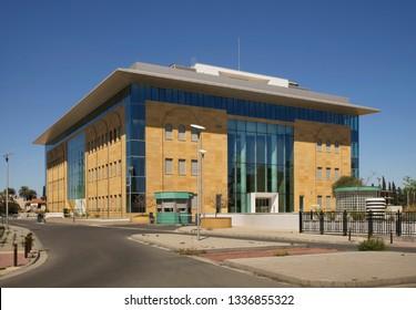 NICOSIA. CYPRUS. 06 APRIL 2018 : Modern building at Agiou Prokopiou street in Nicosia. Cyprus