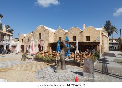 NICOSIA, CYPRUS - MARCH, 29, 2018: Buyuk Han in Nicosia, the biggest caravanserai, Cyprus.