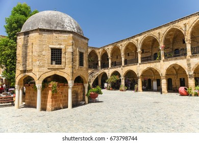 NICOSIA, NORTHERN CYPRUS- MAY 30, 2014 : View on Buyuk Han (the Great Inn), largest caravanserai in Cyprus. Nicosia