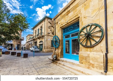 Nicosia, Northern Cyprus - November 14, 2013 : Streets of old Nicosia view. Nicosia is capital of Northern Cyprus.