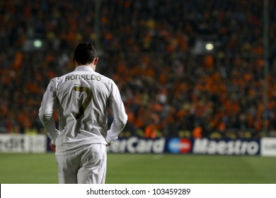 NICOSIA,CYPRUS - MARCH 27: Ronaldo of Real Madrid during the UEFA Champions League quarter-final match between APOEL and Real Madrid at GSP Stadium on March 27, 2012 in Nicosia, Cyprus.