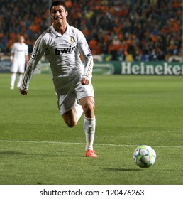 NICOSIA,CYPRUS -MARCH 27: Ronaldo of Real Madrid during the UEFA Champions League quarter-final match between APOEL and Real Madrid at GSP Stadium on March 27, 2012 in Nicosia, Cyprus.