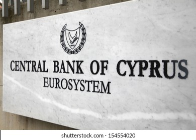 NICOSIA,CYPRUS-MARCH 15:The administrative headquarters of the Central  Bank of Cyprus in Nicosia on March 15,2013