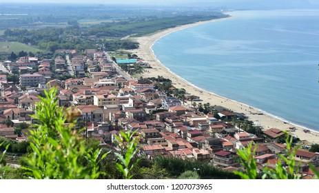 Nicotera Marina beach and village,Calabria,Italy