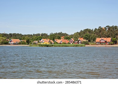 Nida cityscape, view from the Curonian lagoon, Neringa, Lithuania
