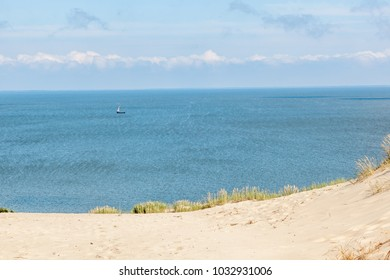 Nida - Curonian Spit and Curonian Lagoon, Nida, Klaipeda, Lithuania. Nida harbour. Baltic Dunes. Unesco heritage. Nida is located on the Curonian Spit