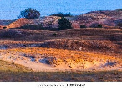 Nida - Curonian Spit and Curonian Lagoon, Nida, Klaipeda, Lithuania. Baltic Dunes. Unesco heritage. Nida is located on the Curonian Spit