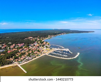 Nida - largest town of Curonian spit, which separates Baltic Sea and Curonian Lagoon. Lithuania