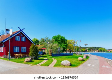 Nida, Lithuania - May 10, 2016: Nida resort town near Klaipeda in Neringa in Curonian Spit on the Baltic Sea in Lithuania.