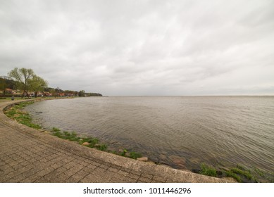 Nida, Lithuania. A popular destination in Europe in Lithuania. Beaches covering the end of the Curonian Spit are included in the UNESCO World Heritage Site