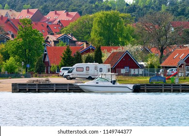 Nida resort town at Klaipeda in Neringa on the Curonian Spit and the Baltic Sea, in Lithuania.