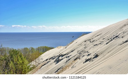 Nida, resort town near Curonian Spit, Lithuania, Baltics. Relaxation. Parnidis Dune. Curonian Spit - UNESCO World Heritage Site