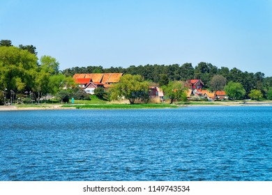 Nida resort town near Klaipeda in Neringa on the Curonian Spit on the Baltic Sea in Lithuania.
