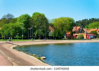 Nida resort town near Klaipeda in Neringa on the Curonian Spit and the Baltic Sea in Lithuania.