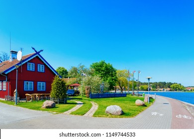 Nida resort town near Klaipeda in Neringa in the Curonian Spit on the Baltic Sea in Lithuania.