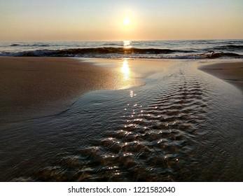 Nida Sunset Baltic sea