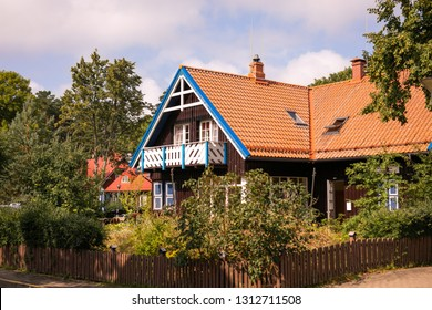 Nida. Traditional fisherman's house in Nida, Lithuania. Nida is a resort town in Lithuania. Located on the Curonian Spit between the Curonian Lagoon and the Baltic Sea. Lithuania, Nida, August 2018.