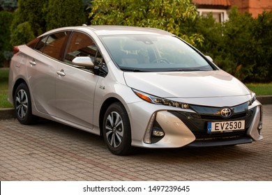 Nida/Lithuania September 3, 2019 Toyota Prius Prime.