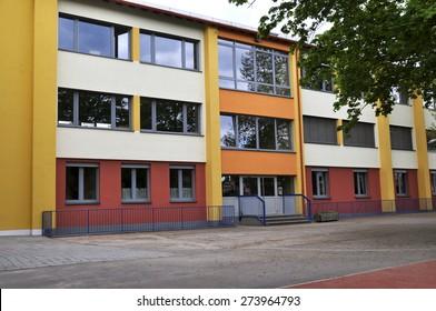 NIEDER-OLM,GERMANY-APRIL 28:modern school building on April 28,2015 in Nieder-Olm, Germany.