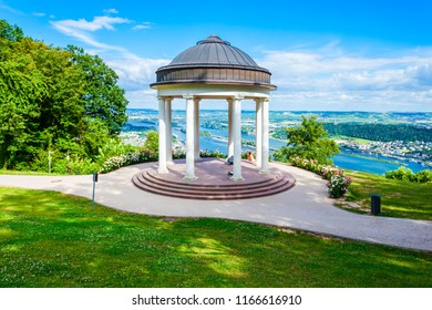 Niederwaldtempel rotunda located in the Niederwald near Rudesheim am Rhein in Hesse, Germany