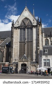 The Nieuwe Kerk (New Church) is a 15th-century church in Amsterdam, located on Dam Square. Netherlands. 25th June 2014