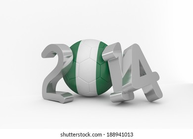 Nigeria 2014 on white background
