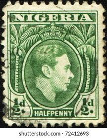 NIGERIA - CIRCA 1946: A stamp printed in Nigeria shows  King George VI, series, circa 1946