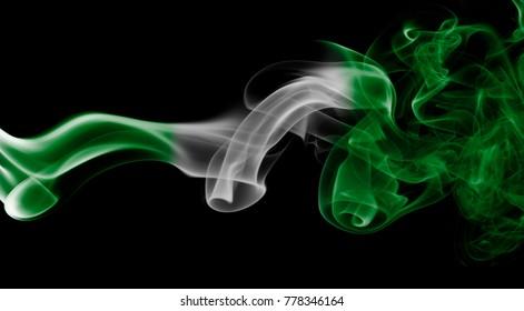 Nigeria smoke flag
