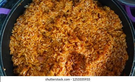 Nigerian Food: A pot of delicious Jollof rice