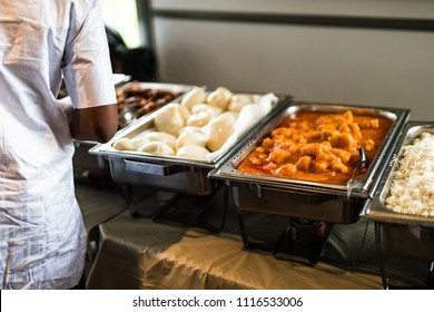 Nigerian Food served on Buffet at Party