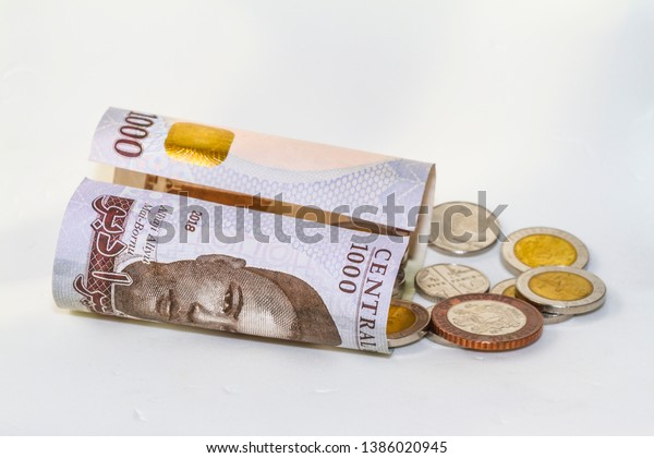 Nigerian Naira Notes Coins Stock Photo (Edit Now) 1386020945