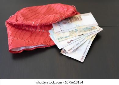 Nigerian traditional Cap - Fila with Nigerian Naira notes