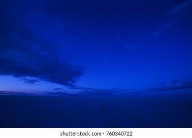 Night above Salar de Uyuni