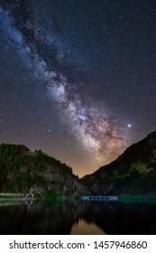 Night Astrophotography: Milky over Pyrenees in Valle De Nuria, Catalunya, Spain