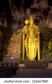 night at batu caves, kuala lumpur, malaysia